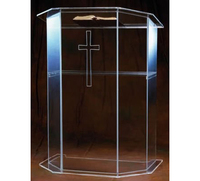 Free Shipping Acrylic Church Pulpit Manufacturer Supplies Acrylic Lectern Simple Lectern Perspex Podium