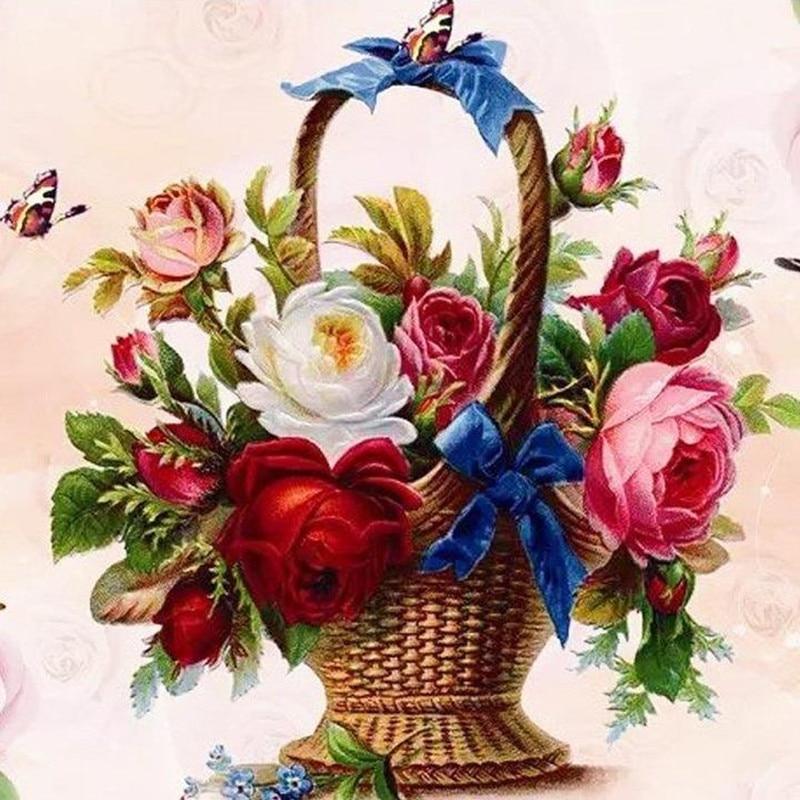 Советские открытки цветы в корзине менее распространены