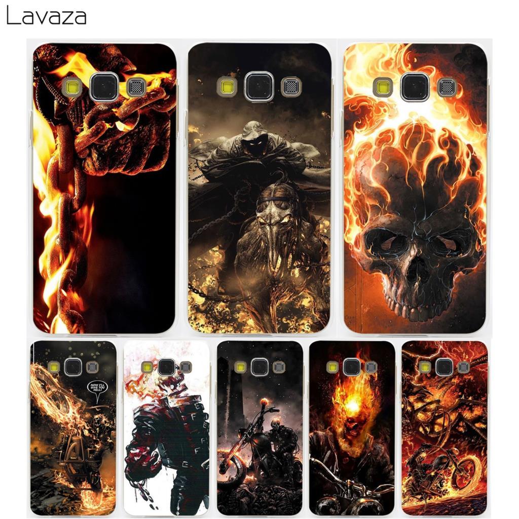 Lavaza Clayton Crain Ghost Rider Hard Transparent Case for Samsung Galaxy S3 S4 S5 & Mini S6 S7 S8 S9 Edge Plus