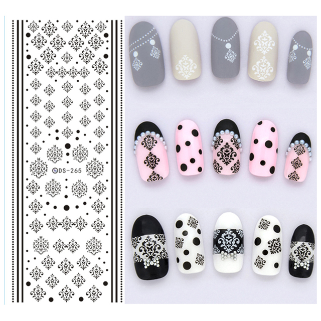3 Stks Nail Ontwerp Water Transfer Nails Art Sticker Winter Stijl