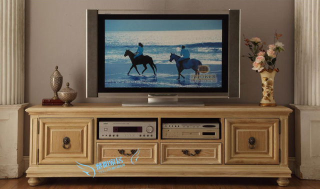 American exports of solid wood TV cabinet audio visual cabinet ...