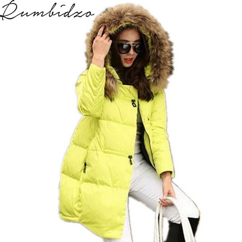 2017 Winter Jacket Women Cotton Padded Winter Casual White Coat Women Parka Thick Fur Hood Plus
