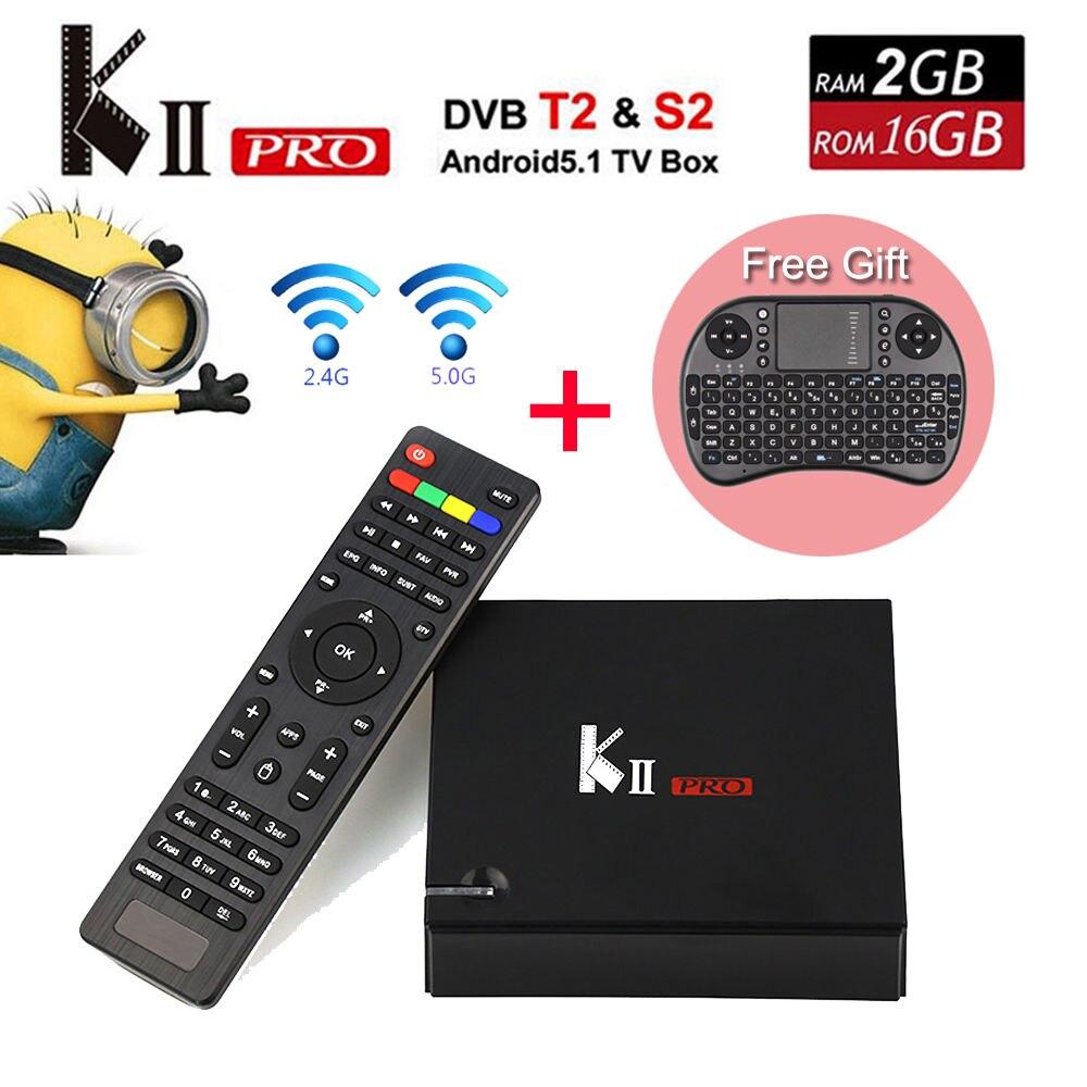 KII Pro 5 unids Android 5.1 TV Box 2 GB/16 GB DVB-S2/DVB-T2 Kdi pre-instalado S9