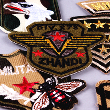 Army Military Patches Embroidery iron on For Clothing DIY Stripes Applique Flag Patch On Clothes USA Air force Badges