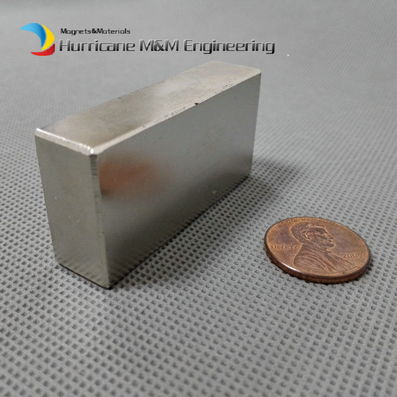 N52 Block 50.8x25.4x12.7 mm Generator Magnet 2x1x1/2 NdFeB Motor Magnet Neodymium Rare Earth Wind turbine Magnet пестрый мир детских проектов