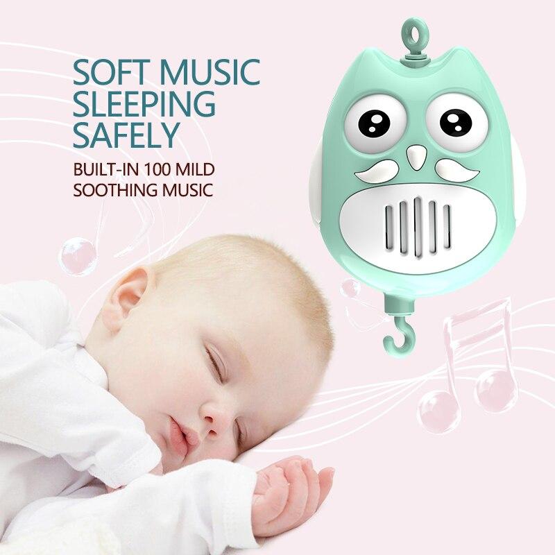 Pierres vivantes bébé lit cloche jouets musicaux pour 0-12 mois nouveau-né enfants cadeau Mobile berceau Mobile bébé hochet lit anneau - 4