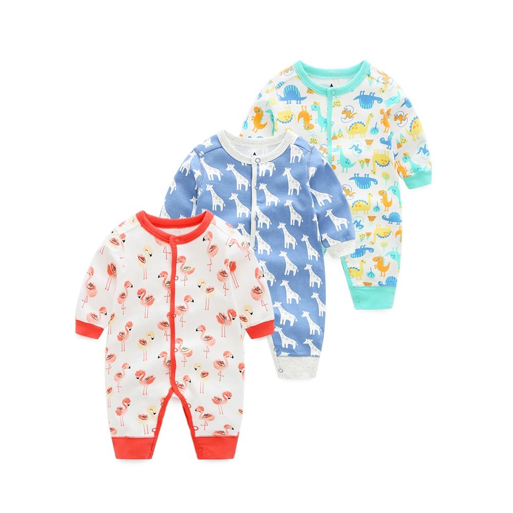 2018 bayi bayi perempuan pakaian, Baju monyet lengan panjang, Overall baru lahir bayi laki-laki piyama, Katun bebes pakaian kartun ...
