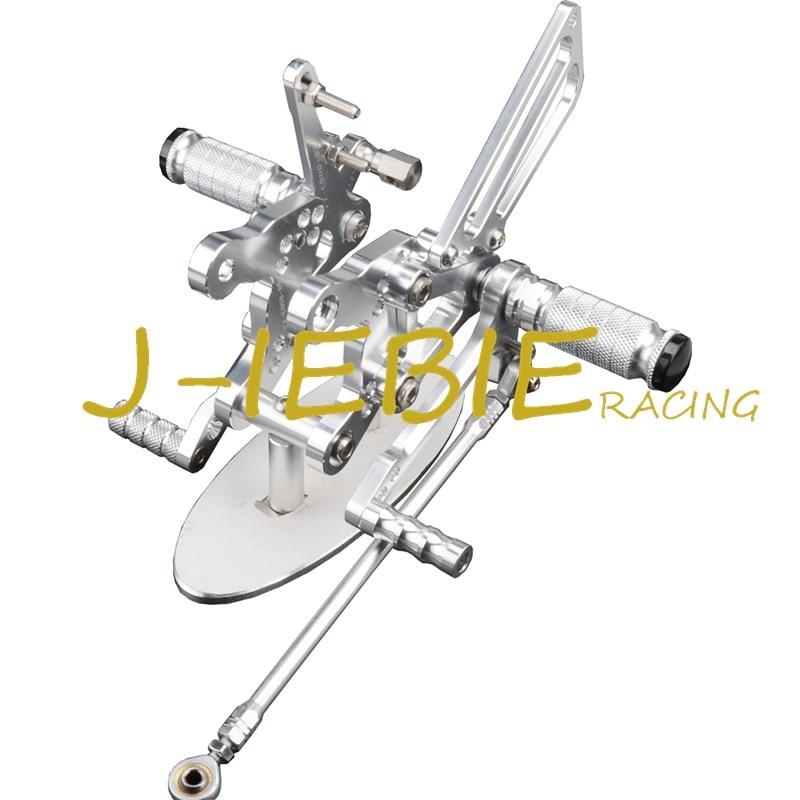 CNC Racing Rearset Adjustable Rear Sets Foot pegs Fit For  Honda CBR893RR CBR919RR 1994-1999 CBR400 NC29 SILVER
