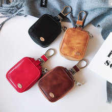 Luxury business casual leather earphone storage bag case For Apple Airpods Shockproof Accessories Ne