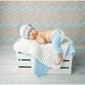 New Top Venda Adereços Fotografia de Recém-nascidos 100% algodão Tampas Do Bebê e Calças Set 0-6 meses Roupa Traje Infantil GM002