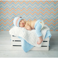 New Top Sale Newborn Photography Props 100 Cotton Baby Caps And Pants Set 0 6 Months