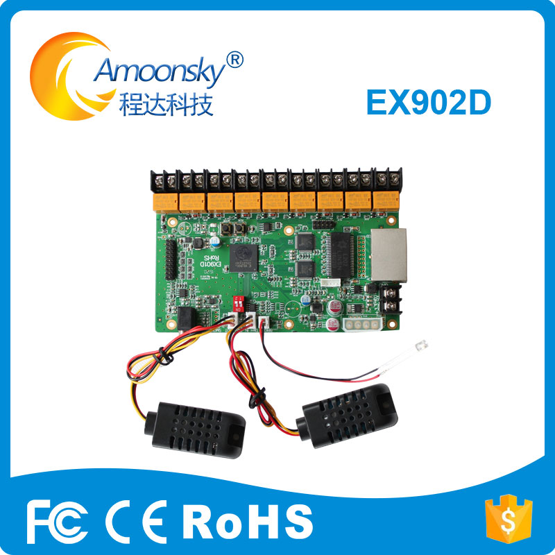 Linsn EX902D led multi function card can test humidity and temperature of corporate and broadcast setups led displayLinsn EX902D led multi function card can test humidity and temperature of corporate and broadcast setups led display