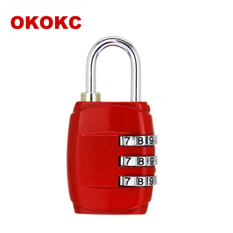 OKOKC Resettable 3 Digit Combination Travel Luggage Suit Code Lock Metal Lock Suitcase Locker Travel Accessories