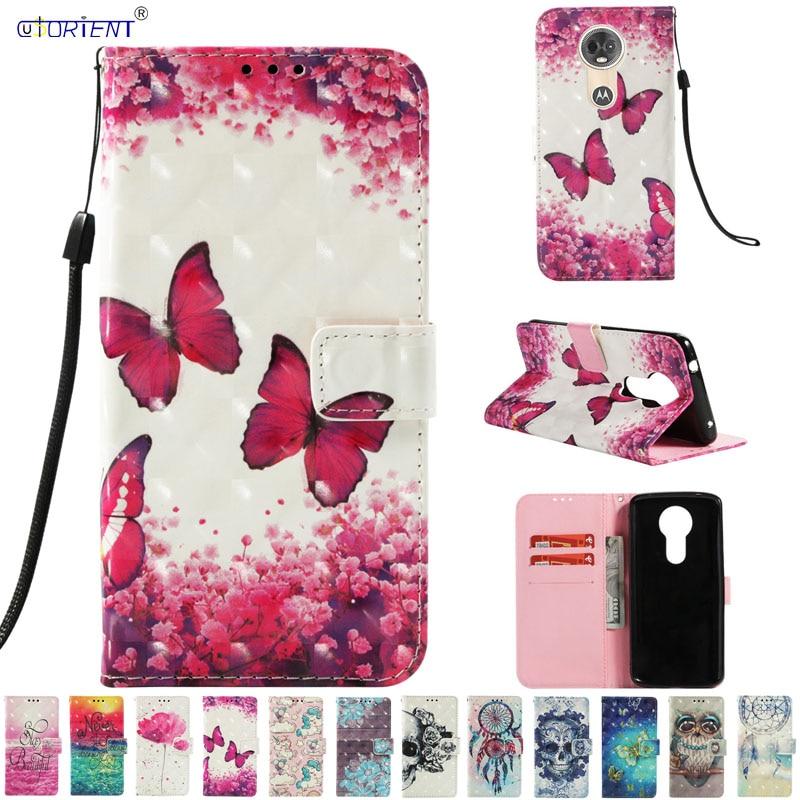 Butterfly Flip Case For Motorola Moto E5 E 5 Plus XT1924-4 Case Mobile Phone Leather Cover For Moto E5 Plus Wallet Card Slot Bag