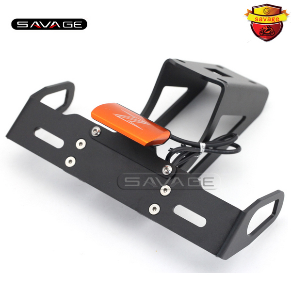 For KAWASAKI Z1000 Z1000SX NINJA 1000 Orange Motorcycle Tail Tidy Fender Eliminator Registration License Plate Holder LED Light motorcycle tail tidy fender eliminator registration license plate holder led light for kawasaki ninja 1000 ninja1000 2011 2015
