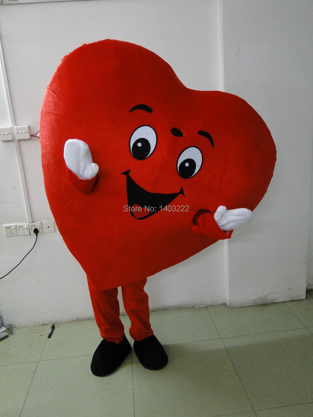 High quality Adult Mascot Costume Adult Size Fancy Heart Mascot Costume free shipping