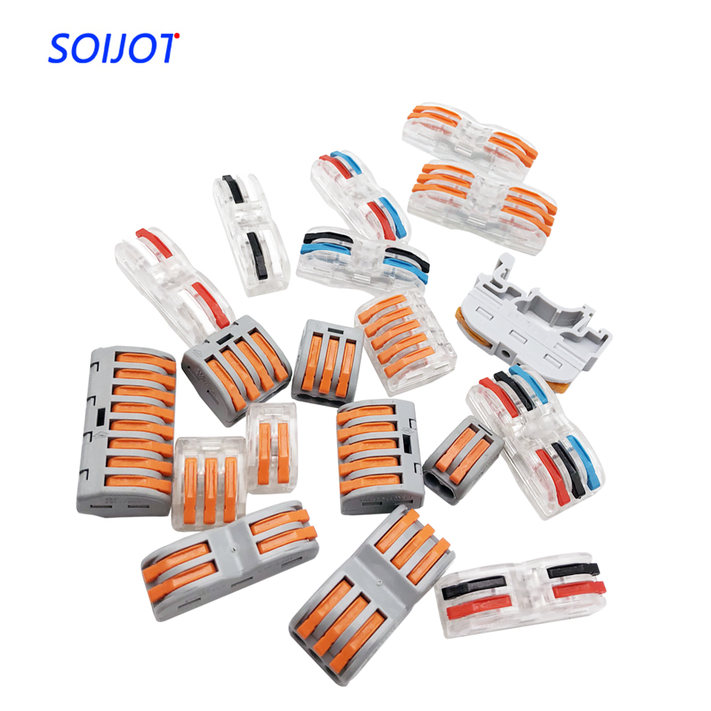 Lever-Nut Wire Connectors-15 Pcs SPL-2 Compact Wire Wiring Connector Conductor Terminal Block for Junction Box
