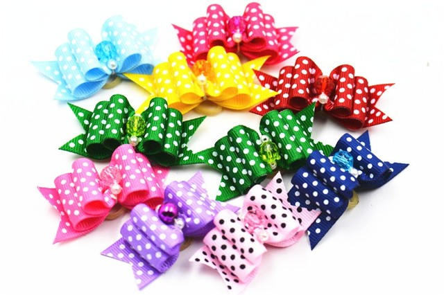 Best Hair Bows Bow Adorable Dog - 20-50-100pcs-set-Pet-dog-Cat-bow-tie-cute-dot-pattern-dog-bow-in-hair  Image_586164  .jpg