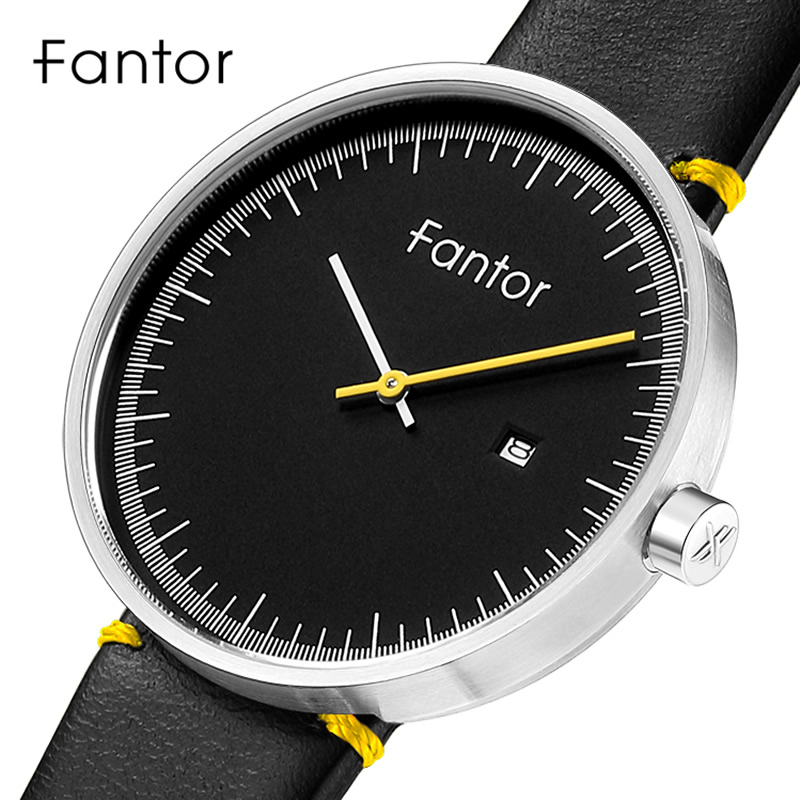 Fantor Ultra Thin Men Watch Minimalist Top Brand Leather Watch Man Casual Simple Date Male Quartz Watches Fashion Wristwatch