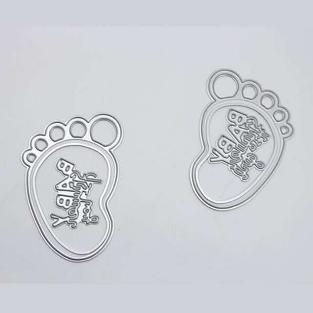 ylcd292 baby foot metal cutting dies for scrapbooking stencils diy
