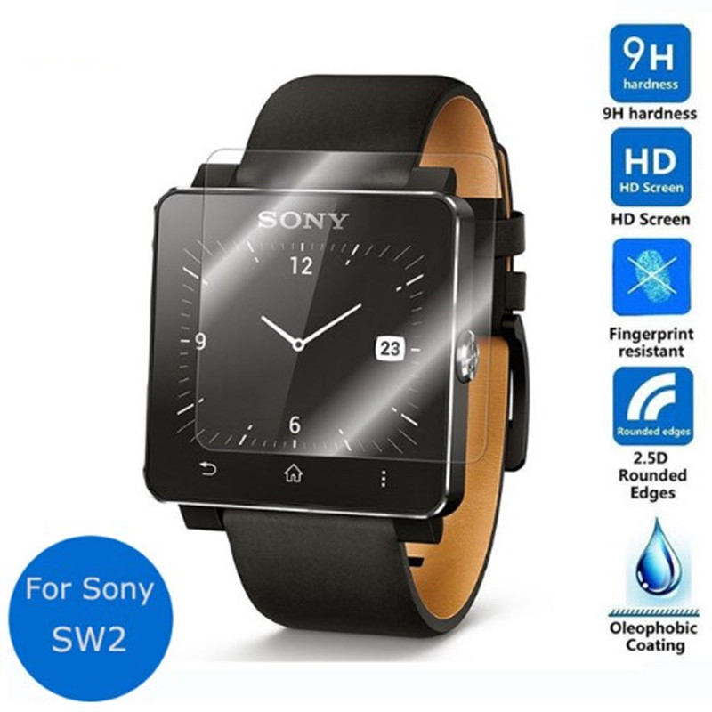 For Sony font b Smartwatch b font 2 SW2 Tempered Glass Screen Protector Safety Protective Film