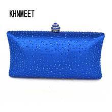 С фабрики дешевле клатч сумка-клатч для выхода, на цепочке голубой кристалл Банкетный вечерние сумочки Свадебная милая сумка-клатч сумки 03