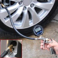 Auto Truck Bike Digital Motorcycle Tire Pressure Gauge Meter Tester Air Inflator Tool 220PSI Monitoring System Car Accessories