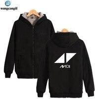 DJ Avicii Winter Thicken Warm Hoodies Men Hip Hop Fleece Hoodie Sweatshirt Men/Women Casual Tracksuit Streetwear Jacket Coat