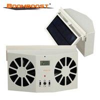 1 pcs Auto Cooler Ventilation Air Vent Cool fan Car Solar Power Fan hot selling Without battery