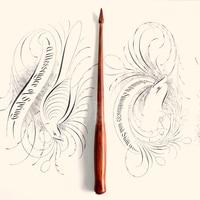 Best Quality Handmade Rose Wood English Calligraphy Copperplate Oblique Dip Pen Holder European Gift Vintage Dip Pen