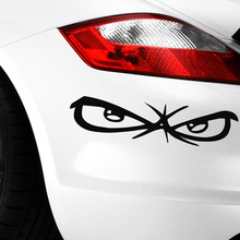 hot deal buy 14cm*3.5cm funny car stickers angry eye vinyl stickers for car stickers and decals high gas consumption decal car styling