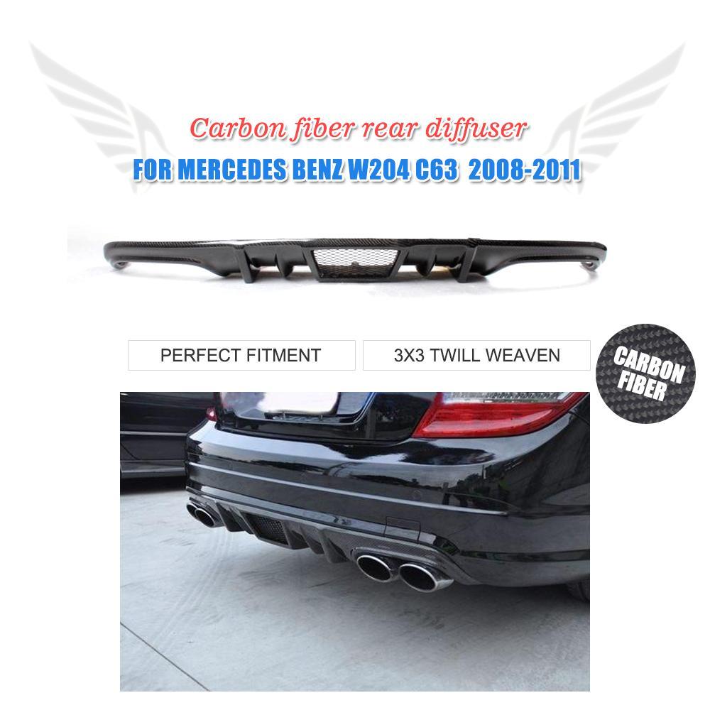 Carbon fiber rear bumper lip diffuser for mercedes benz for Mercedes benz spare parts price list