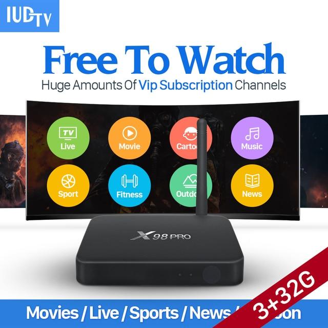 Dalletektv X98 PRO 4K Swedisn French Italian Arabic IPTV Box 1 Year IUDTV Subscription Europe IPTV 3G Android 6.0 TV Top Box