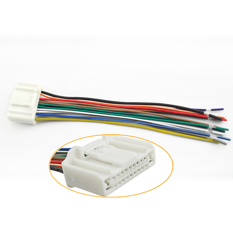 US $4.04 10% OFF Car Auto Cable Audio Stereo Wiring Harness Adapter on