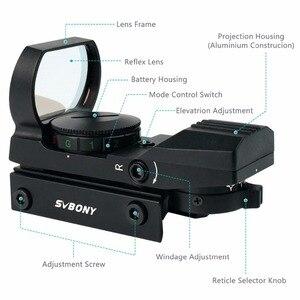 Image 3 - Svbony mira telescópica de rifle, escopo ótico holográfico de ponto vermelho para caça, acessórios táticos f9128