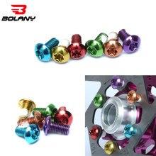 12 шт. велосипедные тормозные винты для дисков, стальные болты ротора, велосипедные красочные винты для дисков 1,8 г для горного велосипеда