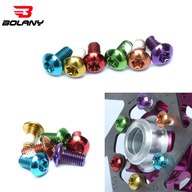12Pcs Bicycle Brake Disc Screws Steel Bolt Rotor Cycling Colorful Disc Screws 1.8g For Mountain Bike