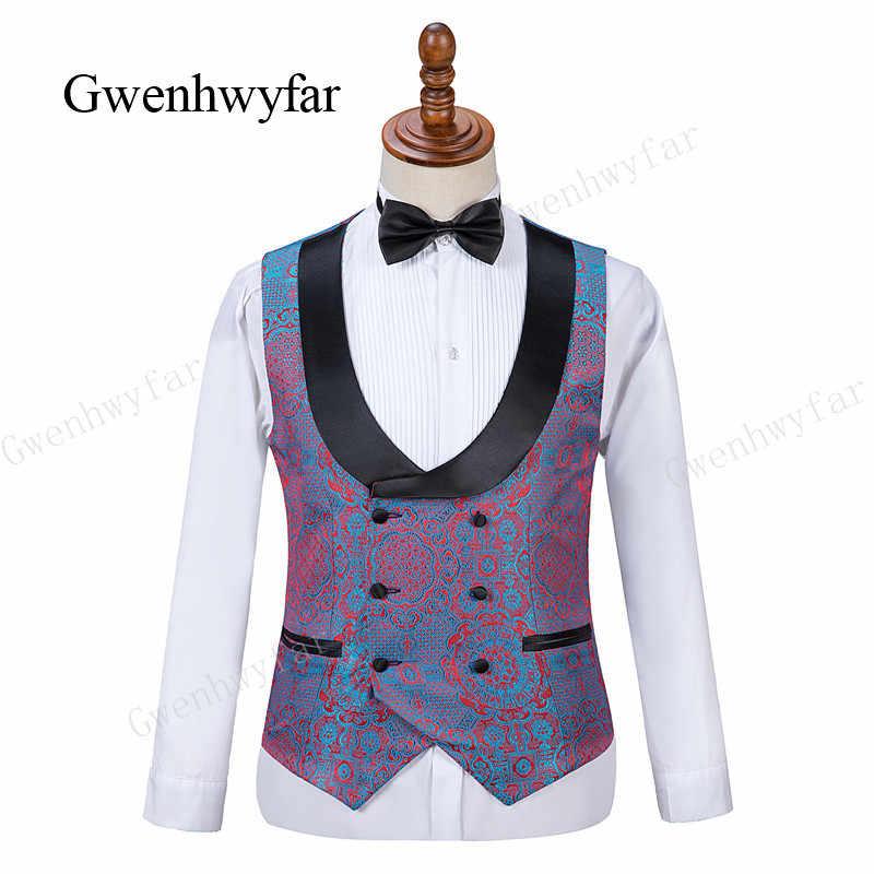 Gwenhwyfar2019 novio esmoquin un botón negro chal solapa trajes de padrino de boda hombres trajes de boda trajes de fiesta formales