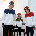Family Matching Hoodies Christmas Kids Warm Sweatshirts Cotton Long Sleeve Mother Dad and Daughter Outfits Clothes for Winter 29