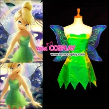 New Arrival Custom made Tinker Bell Dress Cosplay Costume For Halloween Fancy Dress Ball