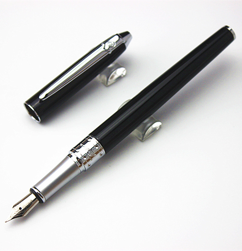 Best Price! PICASSO 605 High Quality Pure black 0.5MM Nib  Study Business Fountain Pen Gifts Decor Executive Caneta high quality best price 22 mm mechanical seal