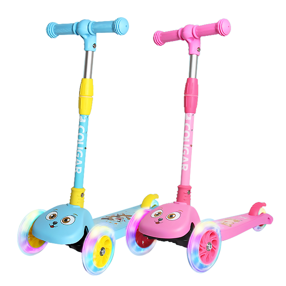 Image 1 - 2019 3 Wheels Folding Scooter with Light Up Wheels Adjustable Height for Kids Girls Boys Toys Gifts for Kids Outdoor Toy Scooter-in Skate Board from Sports & Entertainment