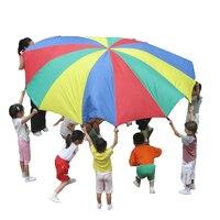 Детская активность Радуга Ткань парашют игрушка сенсорные игрушки для интеграции игр на открытом воздухе для детей Kindergarden-Различные разме...