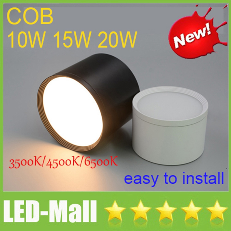 High Bright COB 10W 15W 20W Surface Mounted LED Downlights 110-240V Ceiling Display Clothing Store Dining Room Down Lights Lamps
