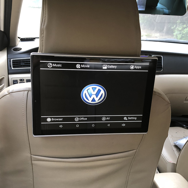 Car With DVD Player On Back Of Seat Android Headrest Monitor For VW Sharan Rear