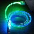 1m גלוי זוהר מחייך פנים LED מיתרי זוהר אור USB סנכרון נתונים כבל טעינה עבור iphone7 iphone 5s 7 6 6 פלוס Ladekabel
