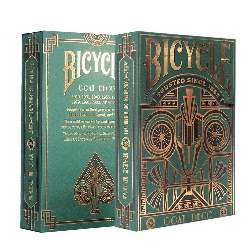 Bicycle Goat Deco Deck Standard Playing Cards USPCC Limited Edition Sealed New Magic Cards Magic Props Close Up Magic Tricks