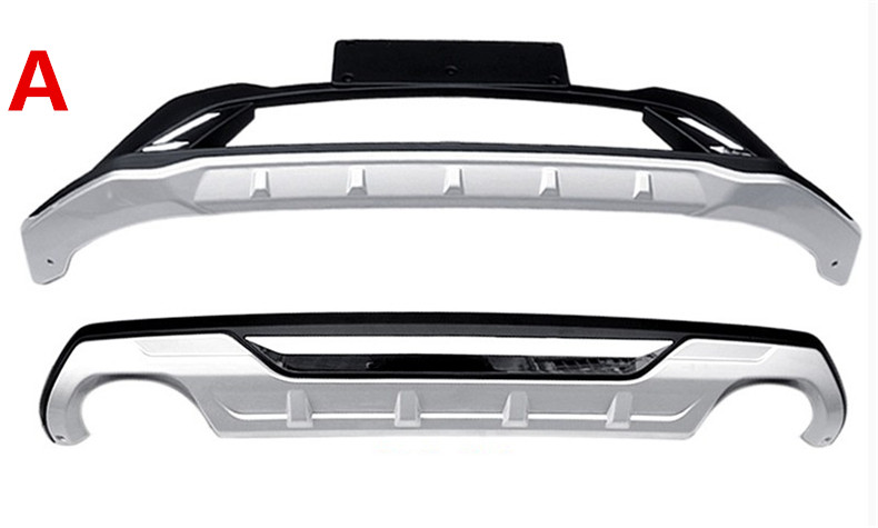 For KIA Sportage 2016.2017 Auto BUMPER GUARD High Quality New ABS Guard Plate Front+Rear Car Accessories