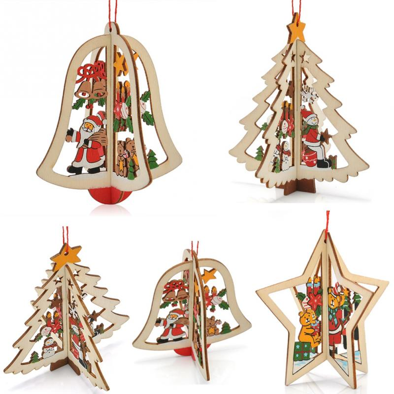 fashionable unique lovely cartoon wooden pineapple christmas tree decoration christmas gift ornament table desk decor 9595cm in trees from home garden