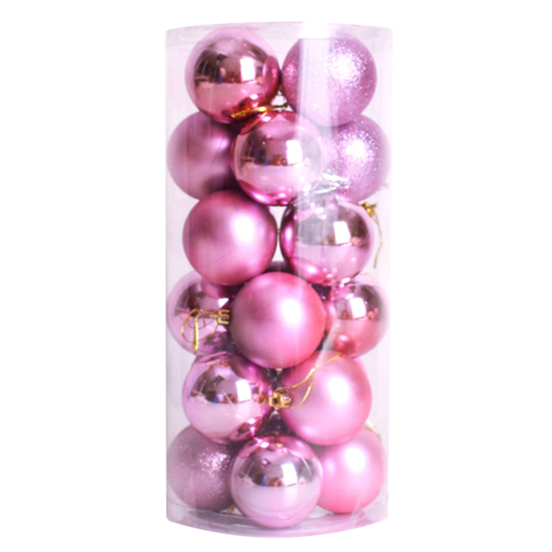 Hot Sale 24pcs Xmas Decorative 6cm New Year Christmas Tree Decorations Christmas Balls for Home Decor